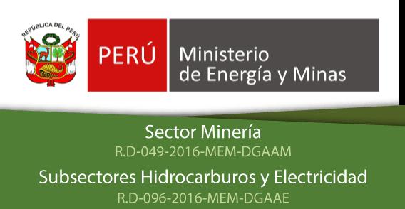 Ministrerio de Energia y minas SUMPA